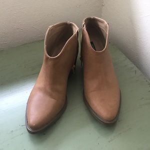 Tan Leather Booties!
